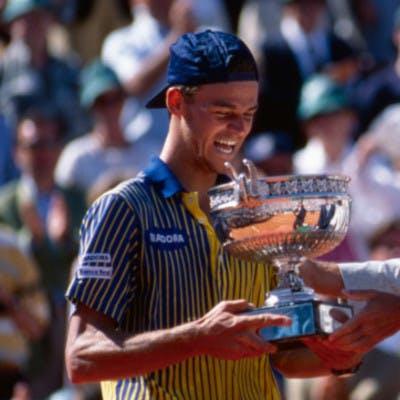 Gustavo Kuerten Björn Borg Guillermo Vilas Roland-Garros 1997.