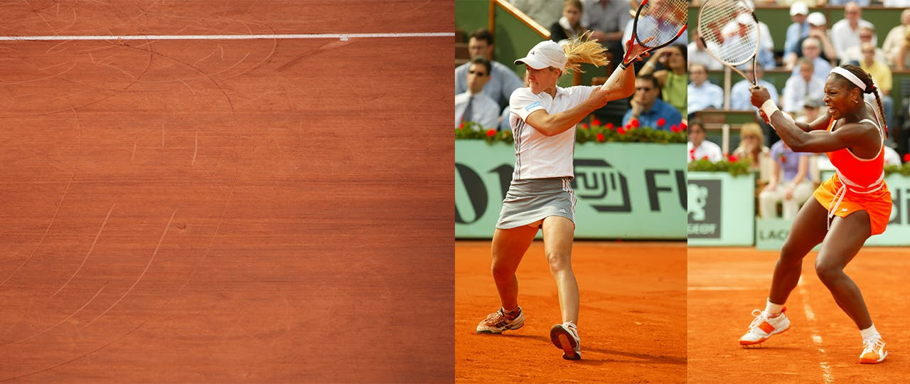 Justine Henin against Serena Williams (semi-final Roland-Garros 2003)