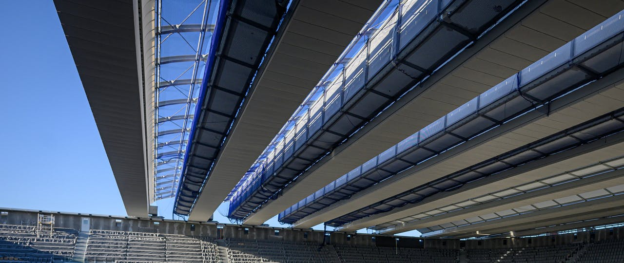 Panoramic view of the Philippe-Cahtrier court's roof