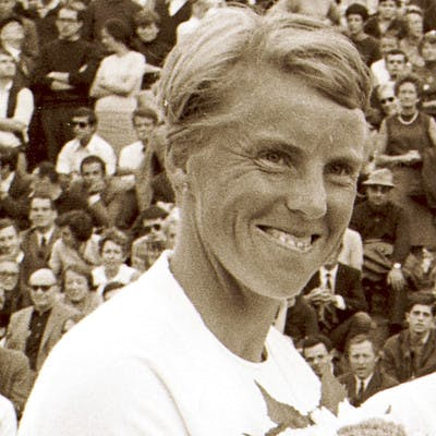 Ann Haydon-Jones championne de Roland-Garros 1961 et 1966 / Ann Haydon-Jones, French Open champion 1961 and 1966.