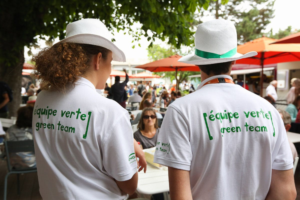 équipes vertes Roland-Garros / green team French Open Paris.