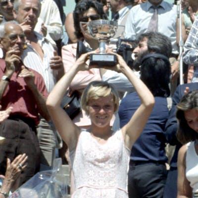 Sue Barker Renata Tomanova Roland-Garros 1976.