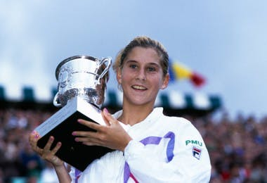 Monica Seles championne Roland-Garros 1990 French Open champ.