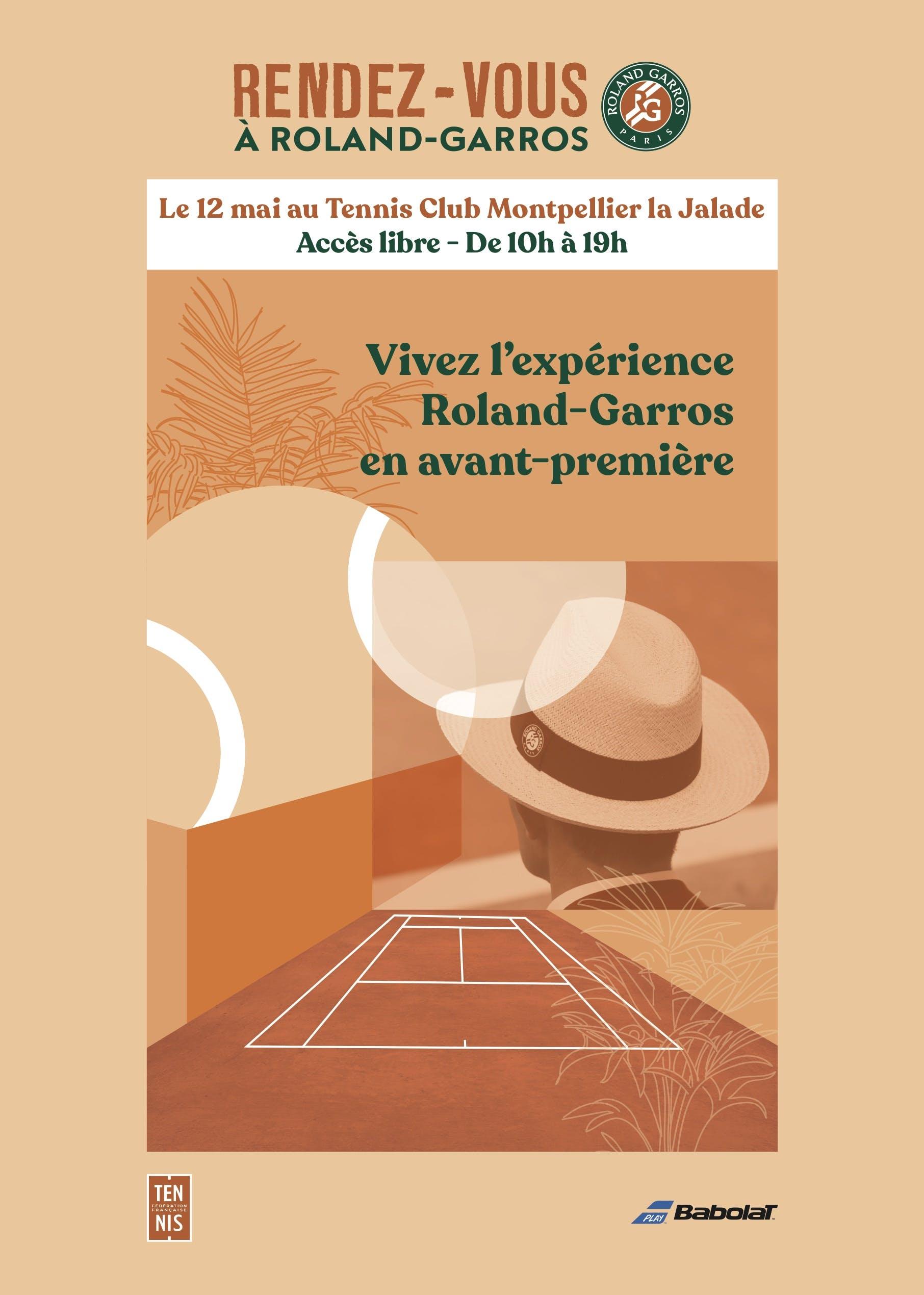 Affiche Rendez-vous à Roland-Garros - Montpellier