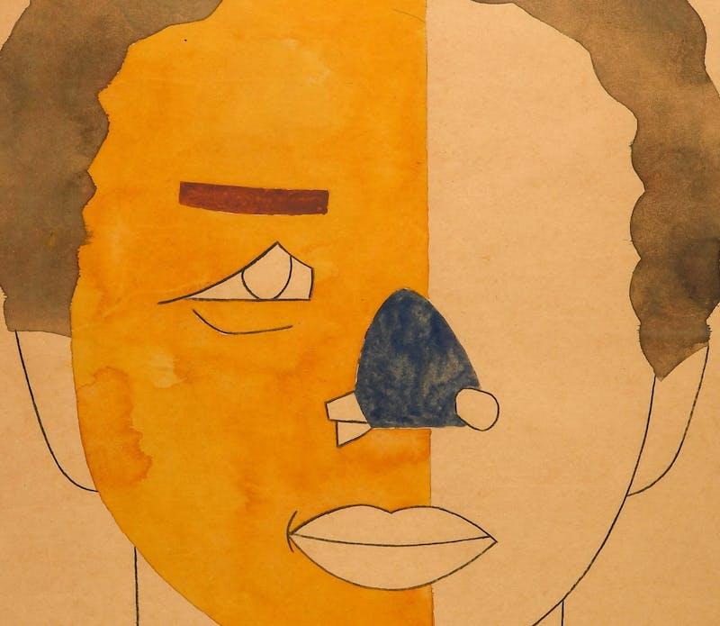 Eduardo Arroyo - Arthur Ashe's portrait