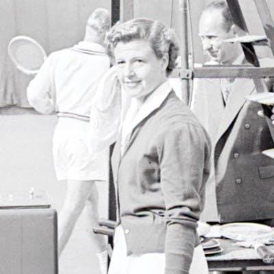 Nelly Adamson Landry, championne de Roland-Garros 1948 / Nelly Adamson Landry French Open 1948 champion.