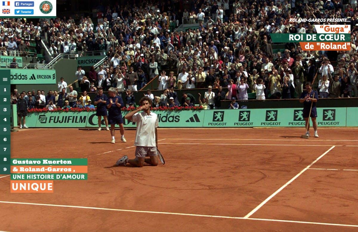 Gustavo Kuerten webdoc Roland-Garros.