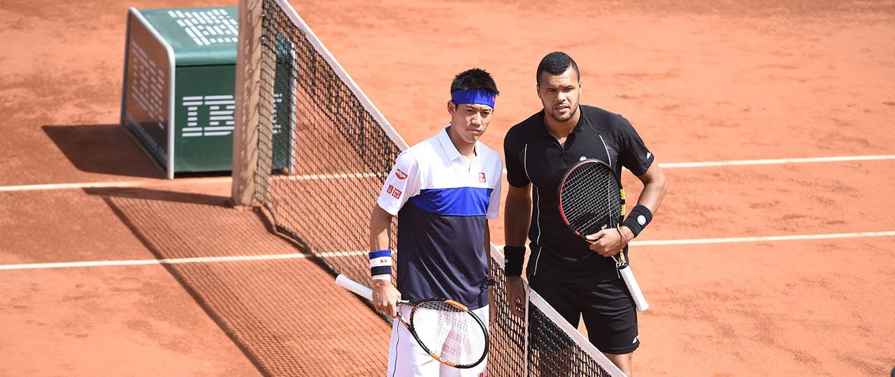 Tsonga & Nishikori, quarter-final 2015
