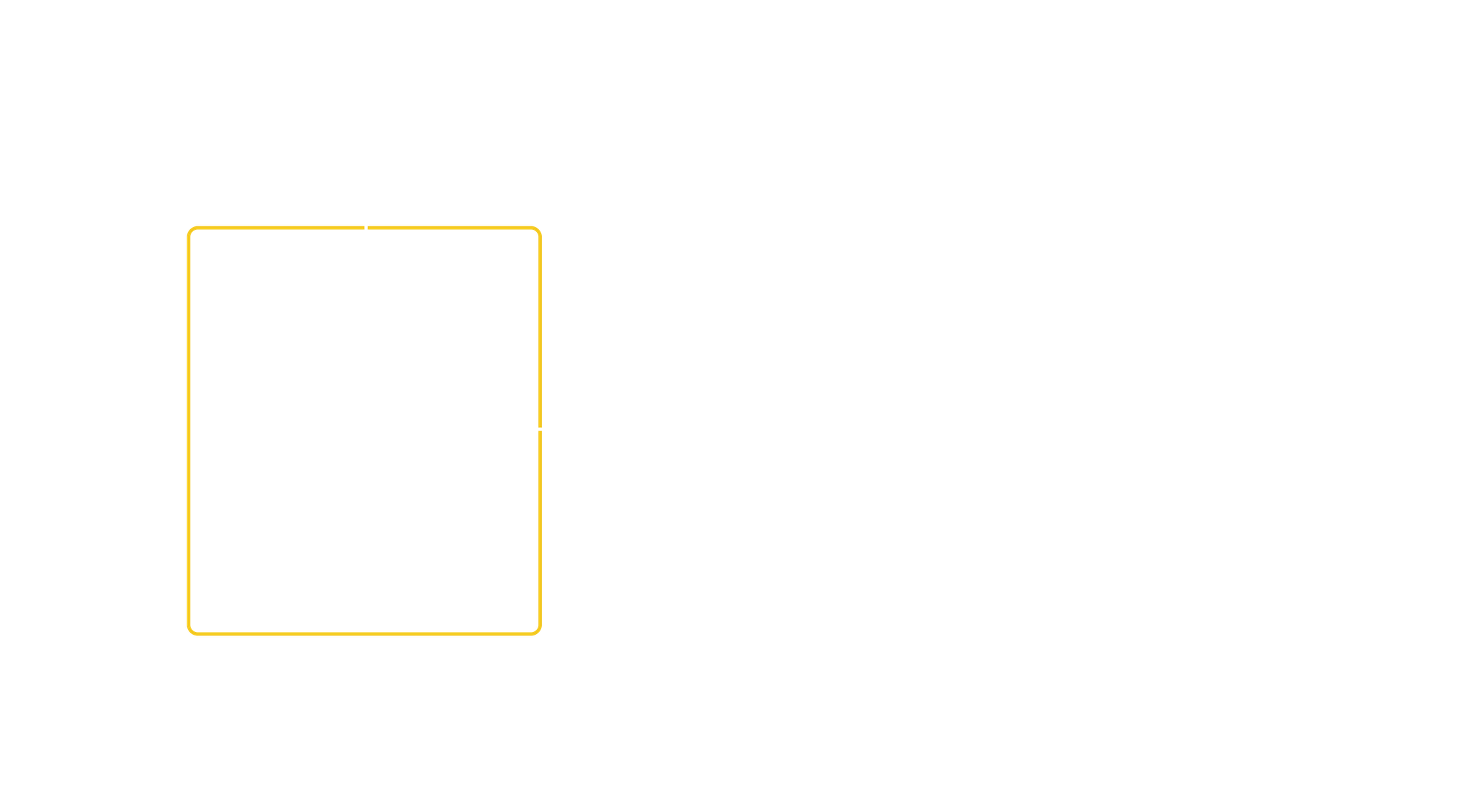 Two squares intersect