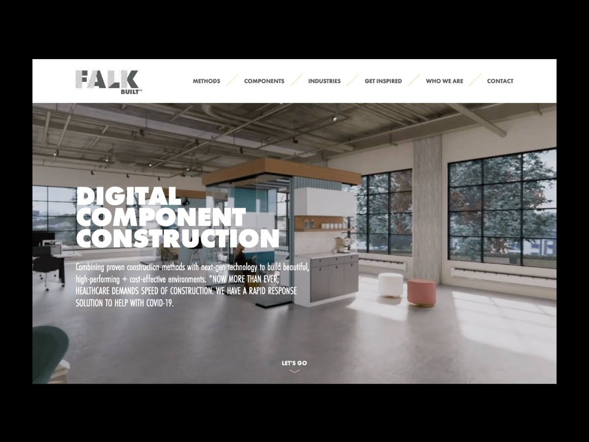 Falkbuilt homepage