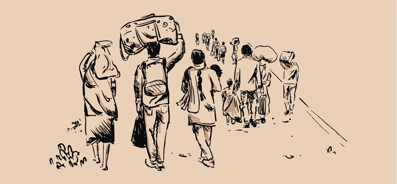 Famished by Mridula Chari; Illustration by Akshaya Zachariah on FiftyTwo.in