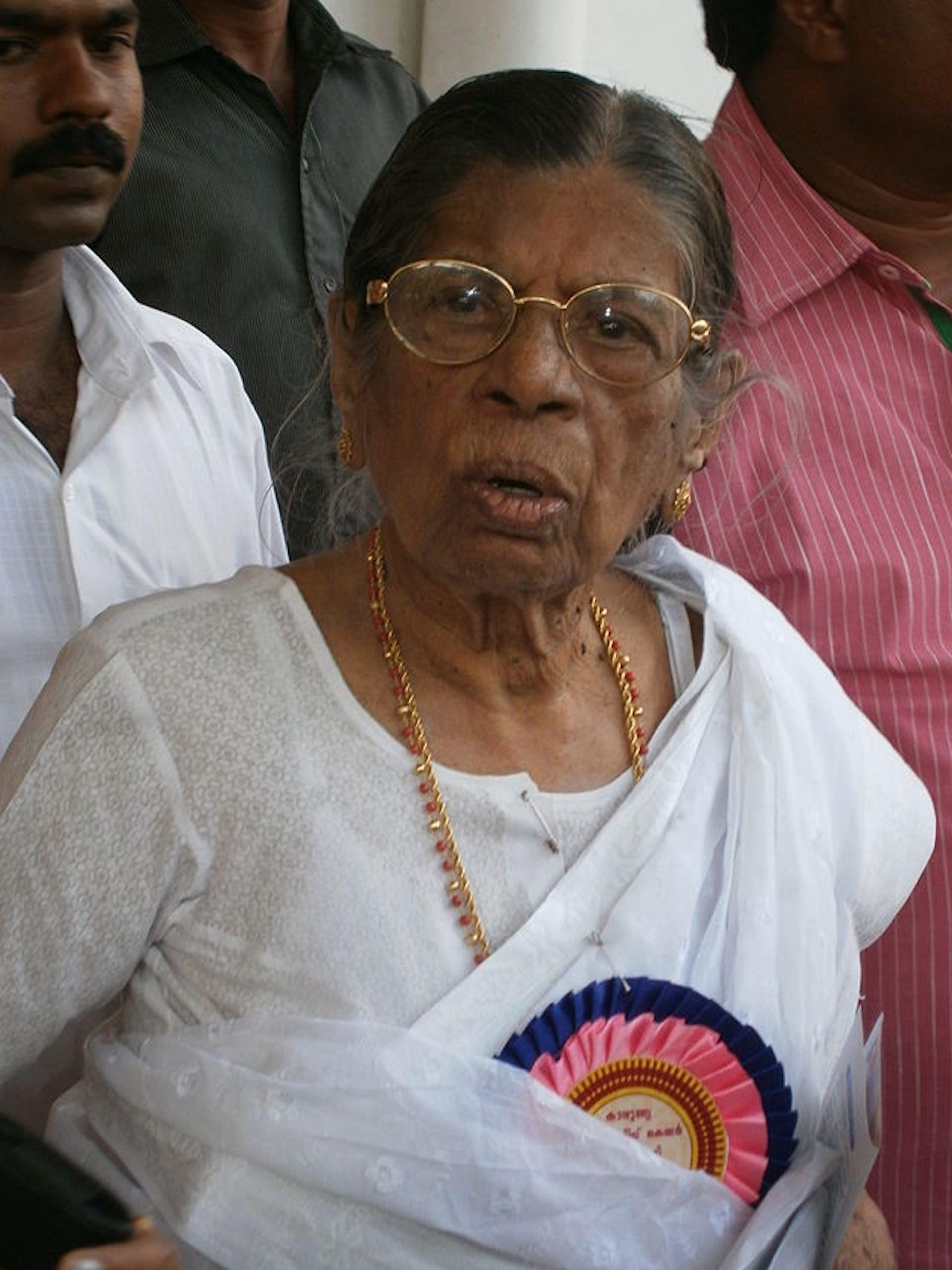 KR Gouri Amma in 2013