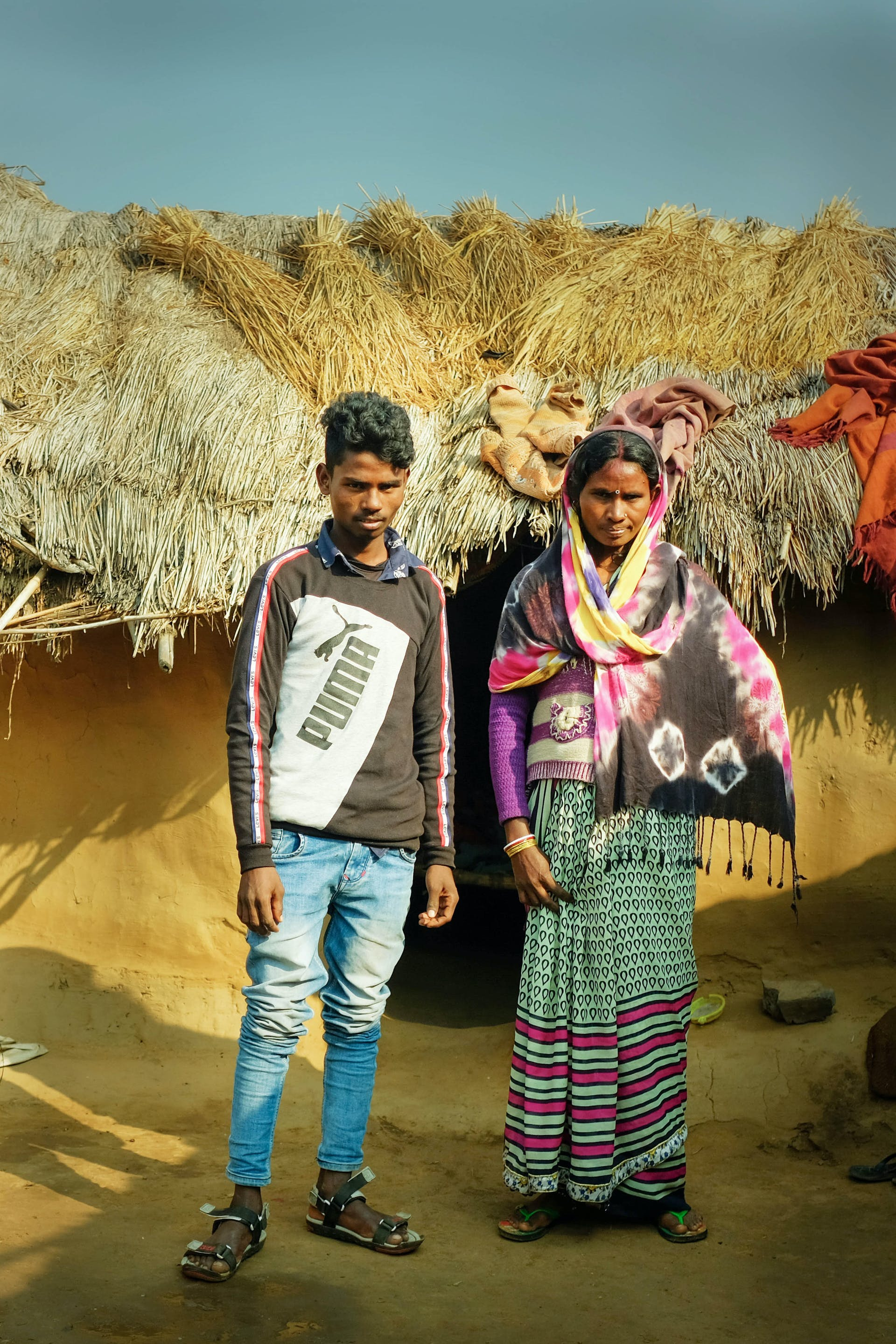 Ashish and his mother Sheela in front of their house in Samod Bigha village in Gaya district, Bihar - The Testimony on FiftyTwo.in