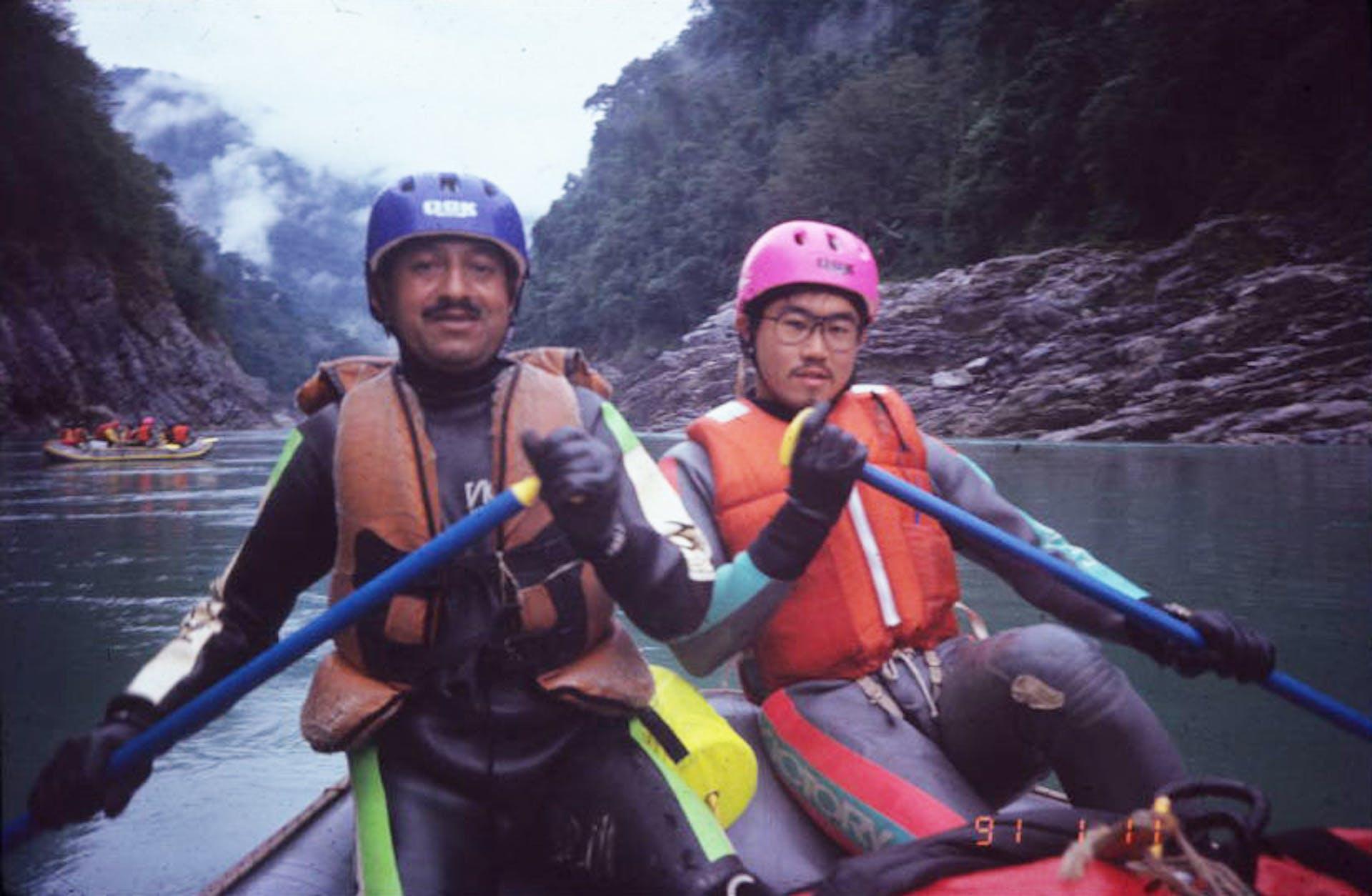 SP Chamoli and Toshio Nakatani pose for the camera. Courtesy: SP Chamoli