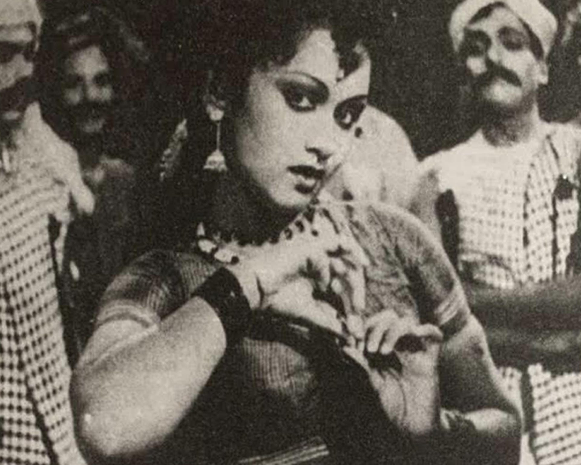 Actress Harini, originally from Udupi, was already a popular theatre actor in Madras when she starred in Jaganmohini (1951) at the age of 14. Courtesy: From K. Puttaswamy's 'Kannada Talkies'