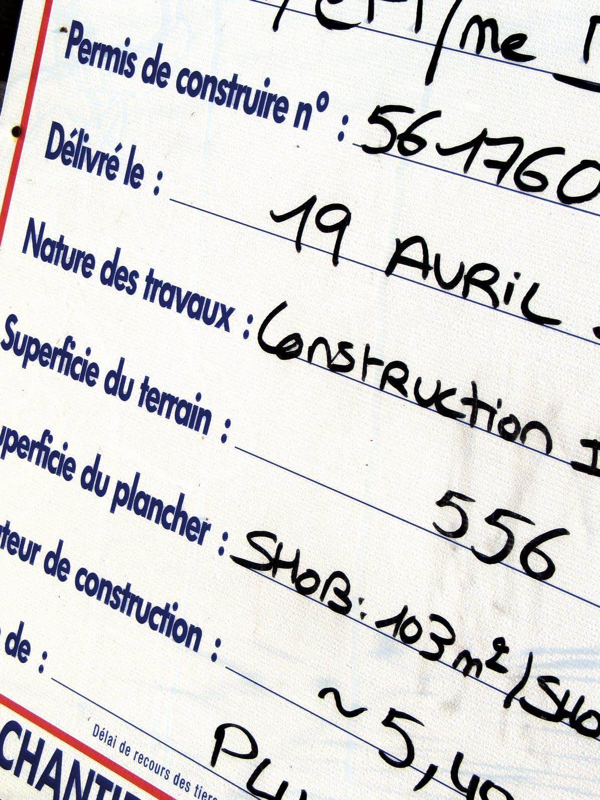 Le permis de construire