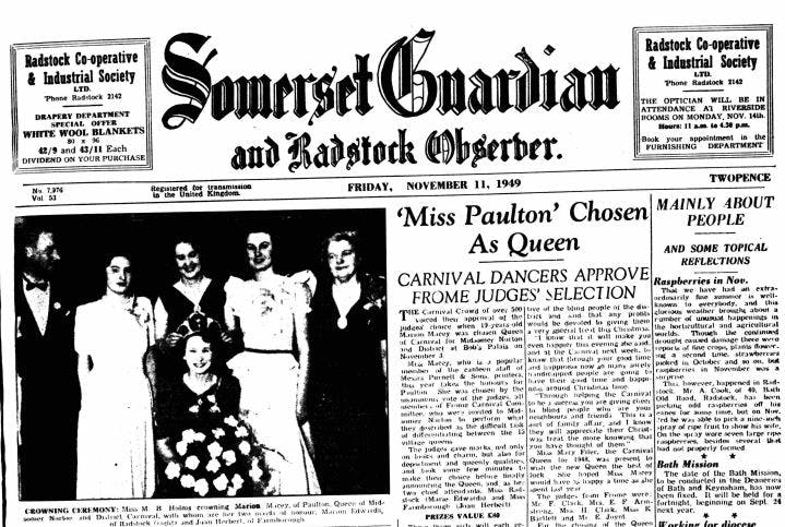 Somerset Guardian and Radstock Observer archives