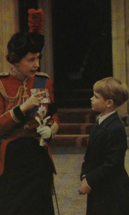 Young Prince Edward and the Queen, 1972