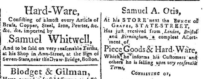 Independent Chronicle and The Universal Advertiser, January 1 1784