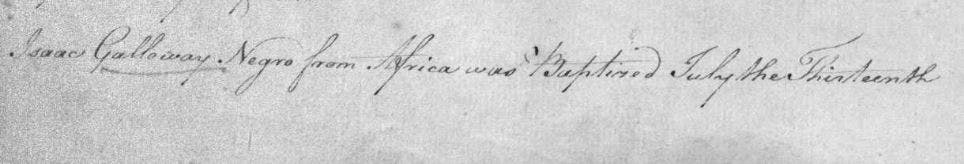 Baptism of 'Negro from Africa' in Toxteth
