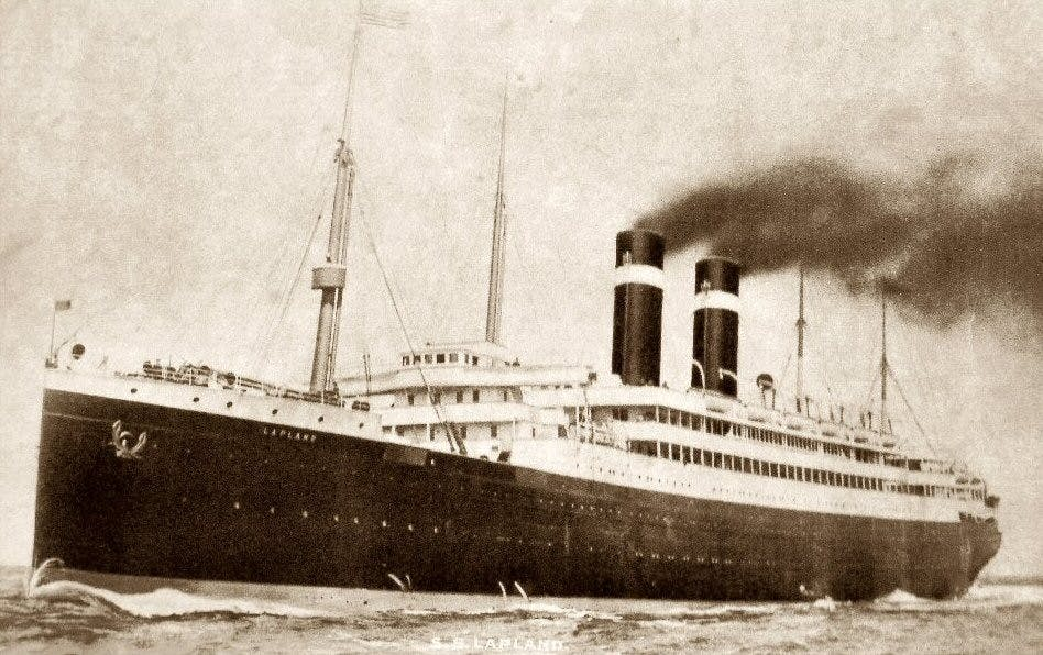 The SS Lapland, which carried hundreds of immigrants to Ellis Island