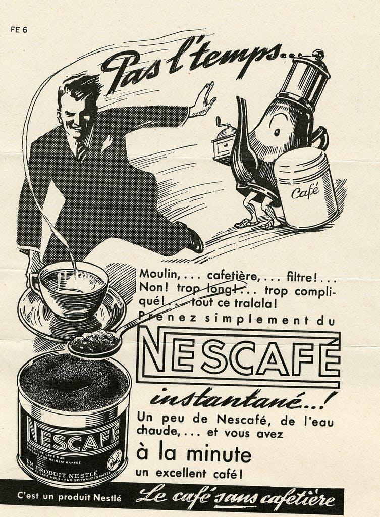 1930s Nescafe advert from a Swiss newspaper