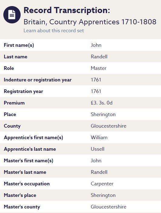 British apprenticeship records
