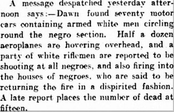 Tulsa race massacre - 1921 newspapers