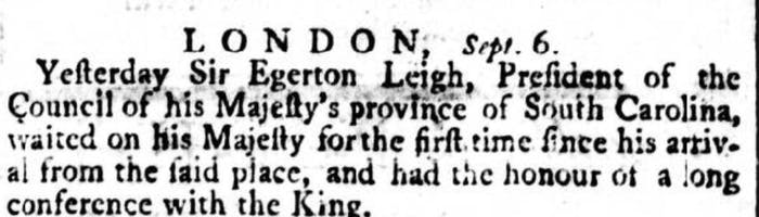 Egerton Leigh meeting the king in 1774.