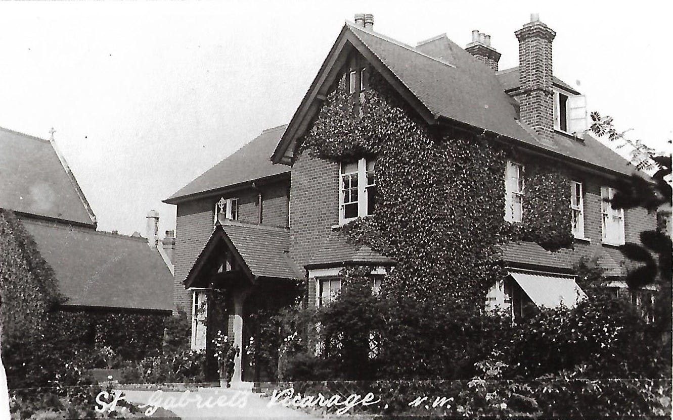 Old photo of a vicarage.