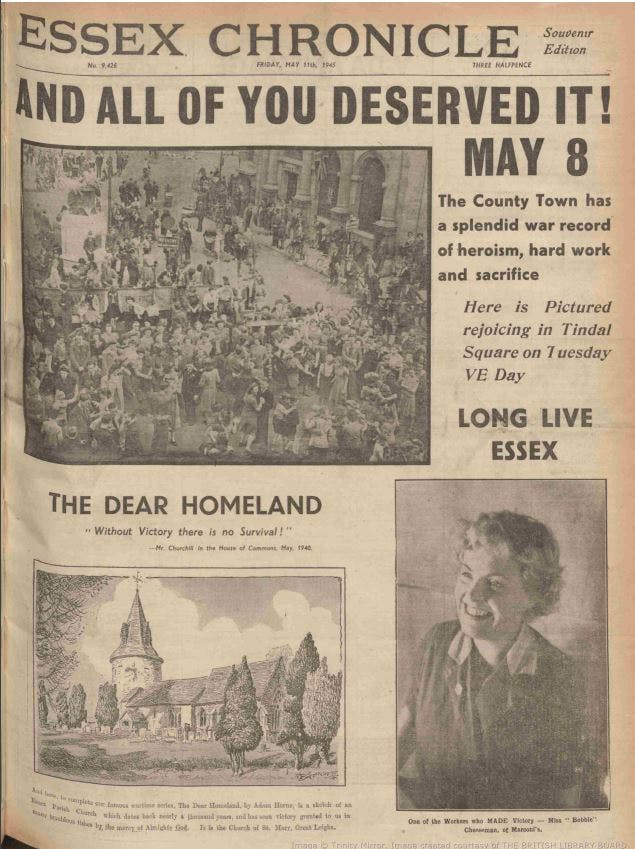 VE Day in Chelmsford, Essex, May 1945