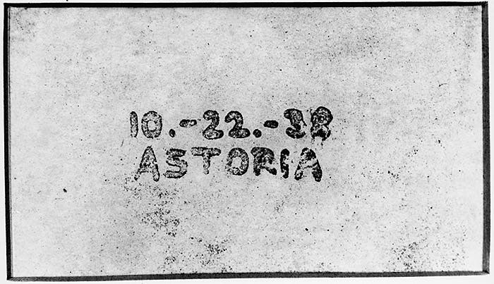 The first photocopy, showing the date and place of it's creation