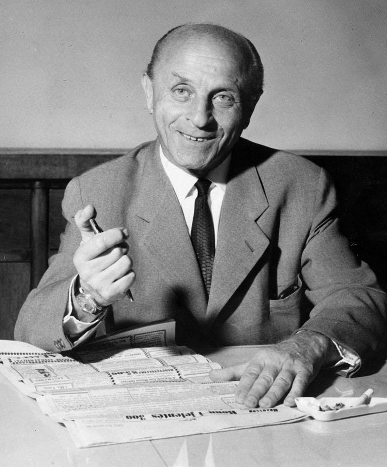 Laszlo Biro, inventor of the ballpoint pen.