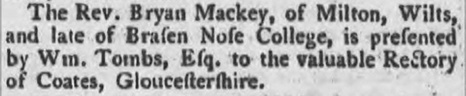 Bryan Mackey - first Black British clergy