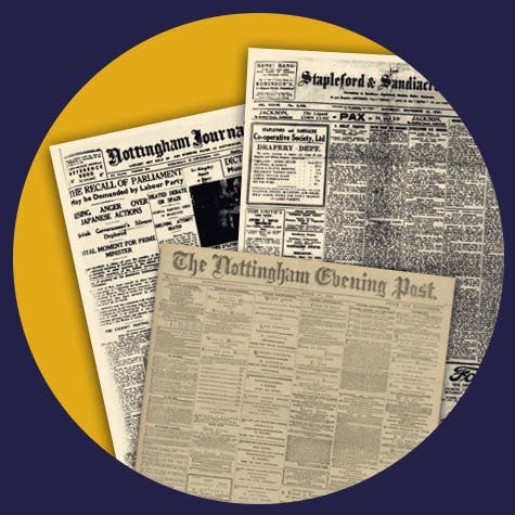 Old Nottinghamshire newspapers