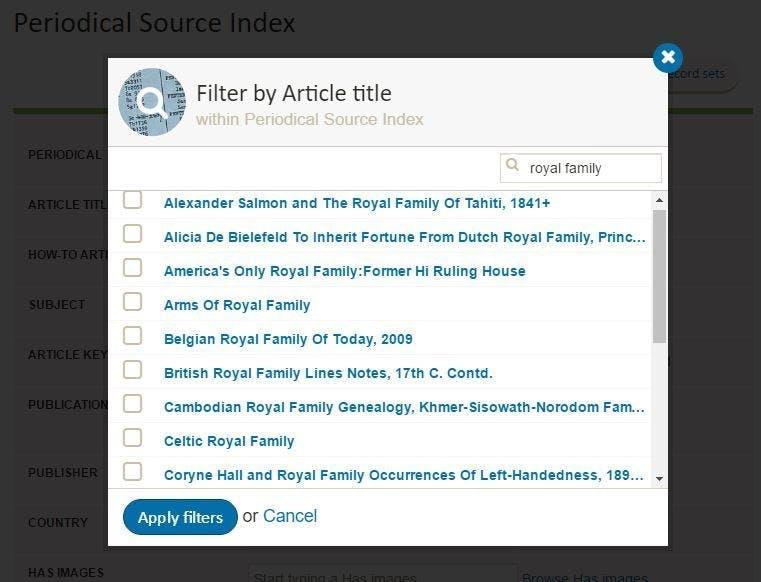 Social history records