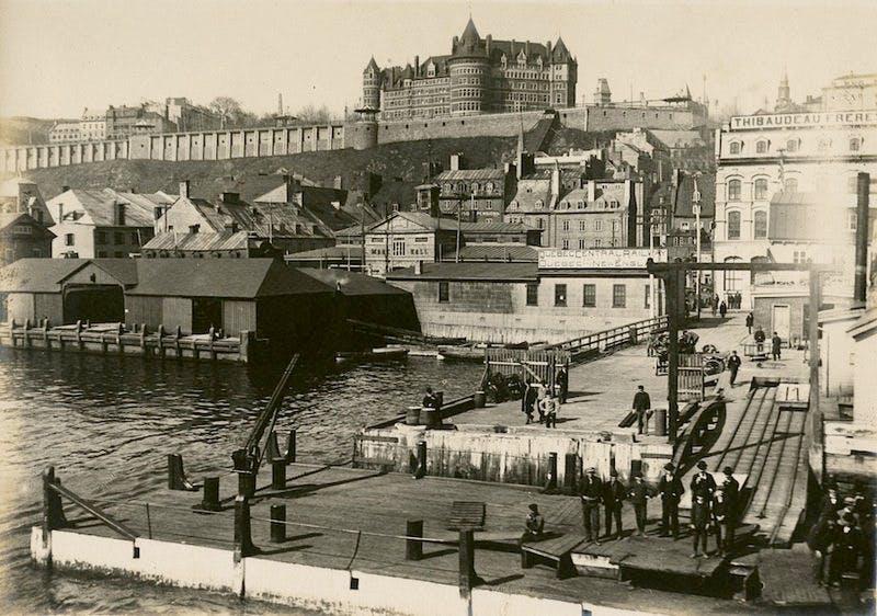 Port of Quebec, 1900