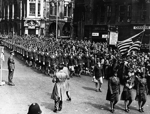 VE Day parade in Birmingham, 1945