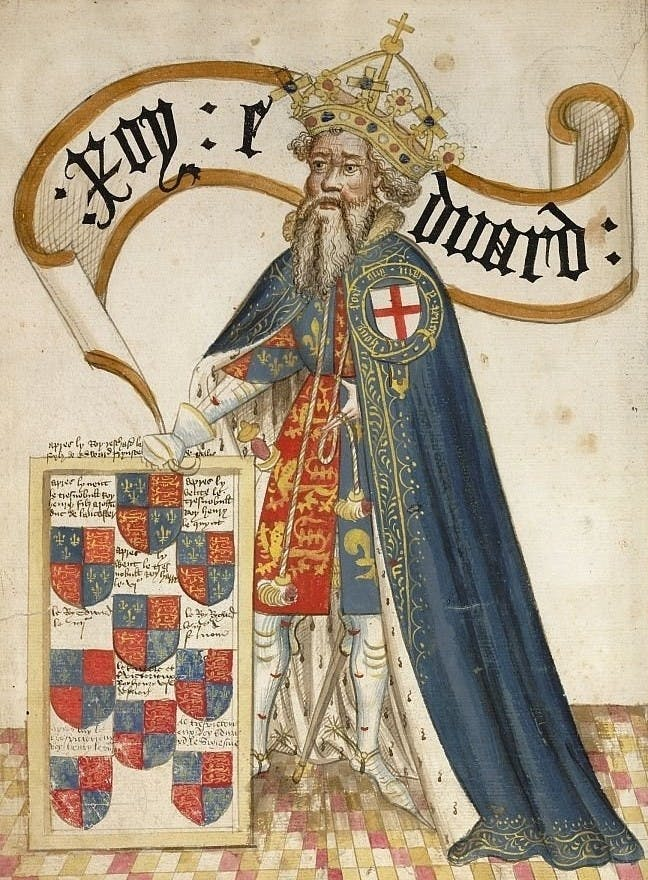 King Edward III, first sovereign of the Order