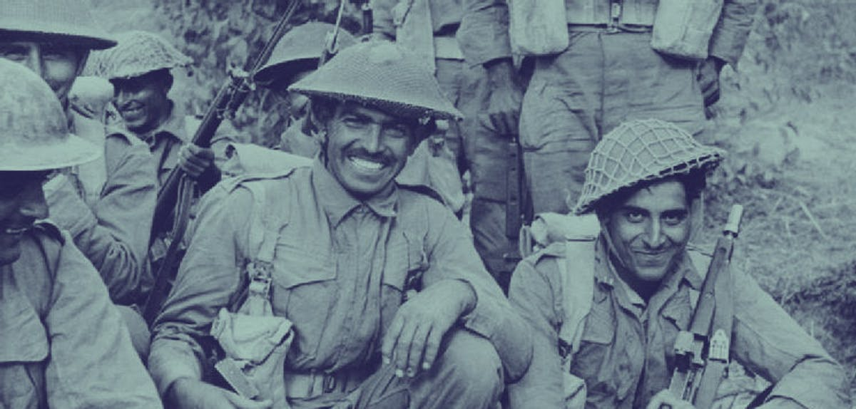 Indian soldiers in World War 2