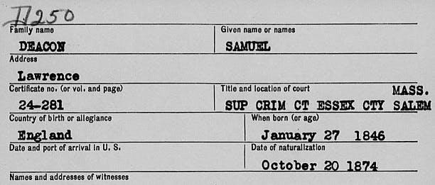 Harry Kane's ancestors - USA connections