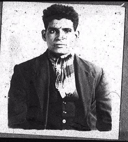 Merchant Navy Seaman Ali Aamet from Aden, born 1899
