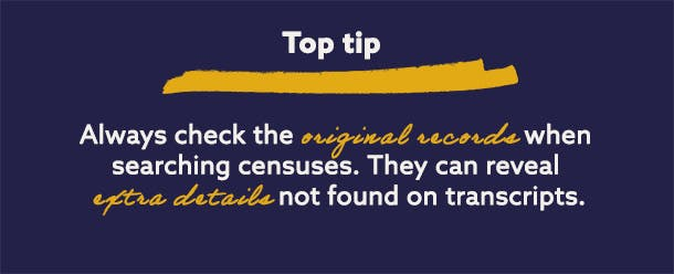 Tips for searching census records online
