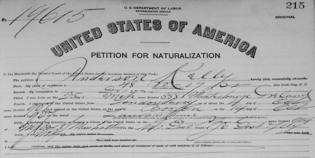 US naturalization records