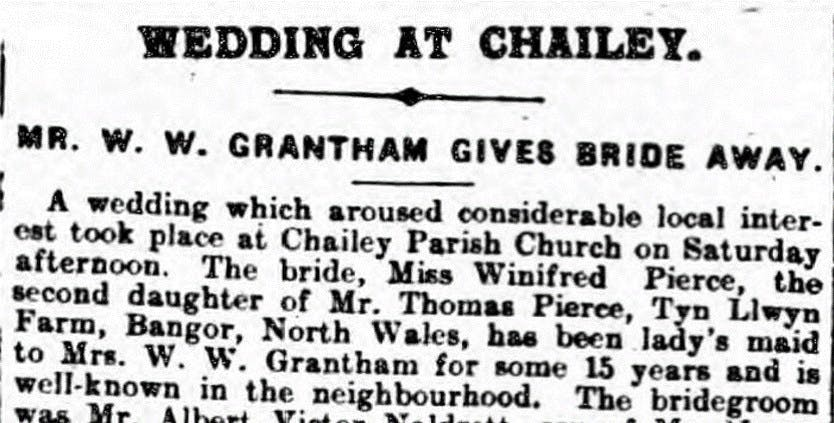 Wedding notices in old newspapers