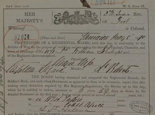 West India Regiment records