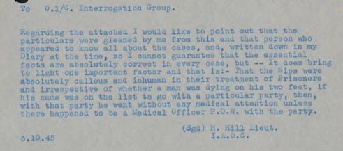 POW diary WW2