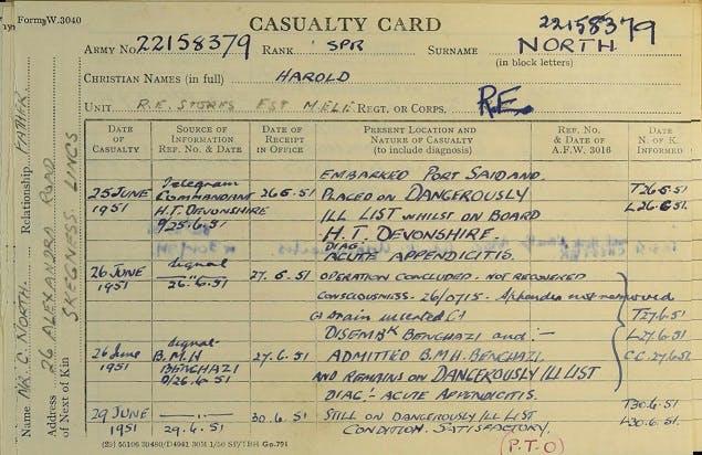 Royal Engineer records WW2