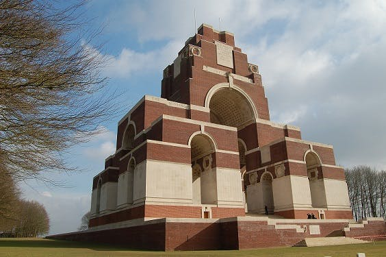 The Memorial to the Missing at Thiepval, on the Somme.
