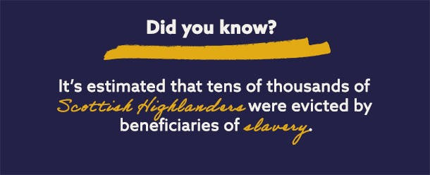 The Highland Clearances and slavery